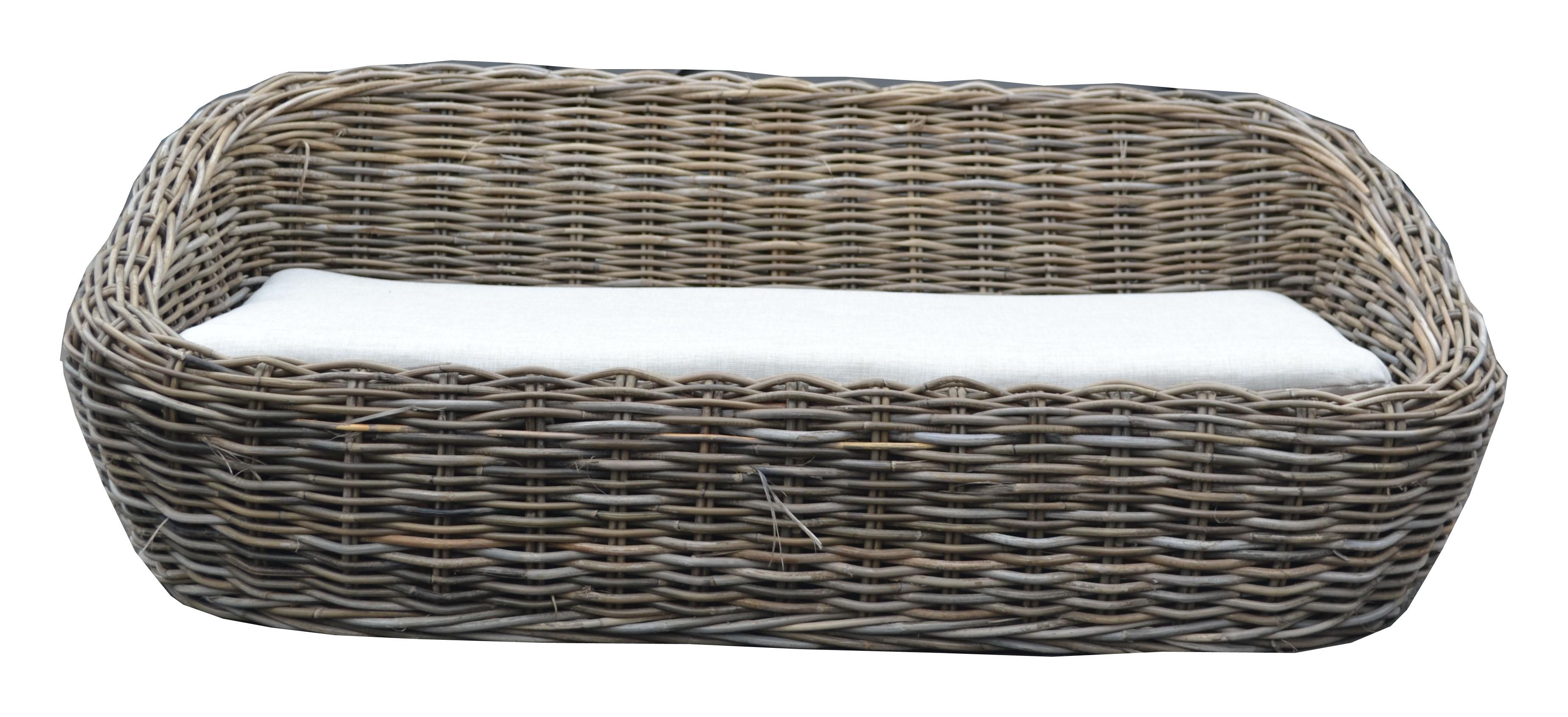 LRB14 #Kubu Rattan Dog Sofa Basket