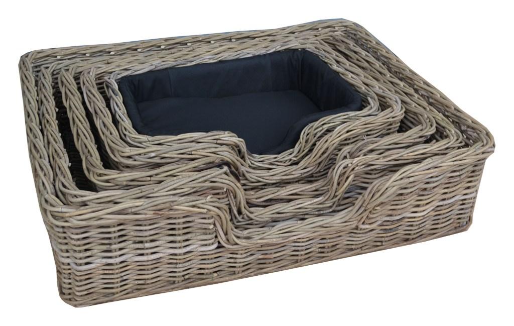 LRB17 #Kubu Rattan Dog basket set of 5