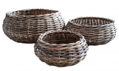 LRB26 #Round kubu Rattan Basket Set Of 3