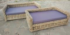 LRB24 #Kubu Rattan Dog Sofa Basket