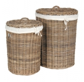 LRB20 #Laundry Basket Set 2 With Linen