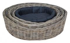 LRB16 #Kubu Rattan Dog Basket Set Of 3