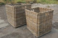 LRB21 #Kubu Rattan Basket Set Of 2