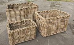 LRB22 #Kubu Rattan Basket Set Of 3