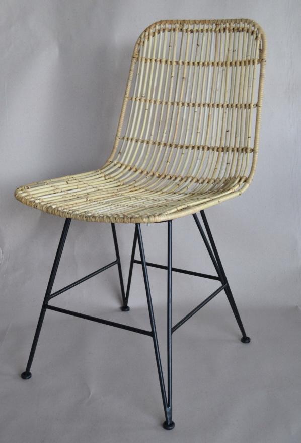 Jaume Iron Rattan Chair