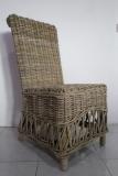 Zetta Dining Chair kubu grey rattan